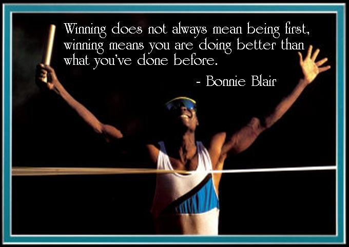 what is winning Great Saying by Bonnie Blair