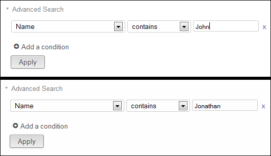 Advanced Search - add conditions as AND